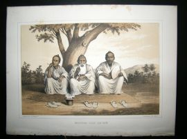 Japan Perry Expedition 1856 Antique Print. Afternoon Gossip, lew Chew